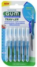 GUM® Trav-Ler® hambavaheharjad, koonus, 6tk komplektis 1,6mm Sinine
