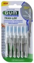 GUM® Trav-Ler® hambavaheharjad, silinder, 6tk komplektis 2,0mm Hall